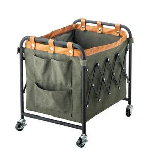 洗濯カゴ ランドリーバスケット 洗濯かご スリム 一人暮らし 低い 持ち運び 大容量 おしゃれ 北欧 コンパクト 収納 通気性 ラック 細い 洗濯物入れ 薄型 薄い グリーン 緑 約 幅37 奥行43.5 高