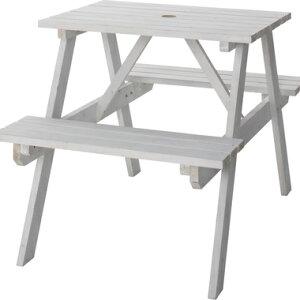 ガーデンテーブル 椅子 セット テーブル デッキ チェア おしゃれ 屋外 カフェ テラス ガーデン 庭 ベランダ バルコニー キャンプ アウトドア 北欧 カフェテーブル ホワイト 白 約 幅75 奥行120