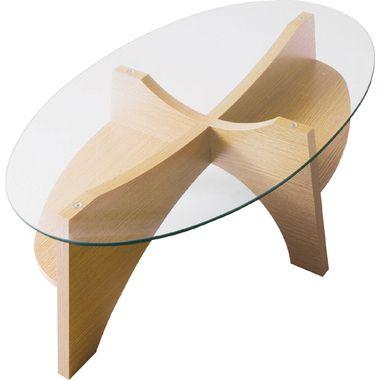 センターテーブル ローテーブル ディスプレイ 楕円 オーバル ガラステーブル ナチュラル 【 ガラス リビングテーブル ダイニングテーブル ちゃぶ台 サイドテーブル コーヒーテーブル カウンターテーブル 座卓 送料無料 送料込】 ナチュラル