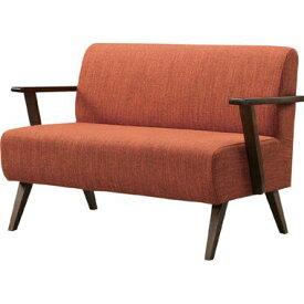 ソファー ソファ 2人掛け 二人掛け 2人用 二人用 コンパクト 小さめ ミニ おしゃれ 北欧 安い カフェ リビング ダイニングベンチ 椅子 背もたれ 布 ファブリック 肘付き オレンジ