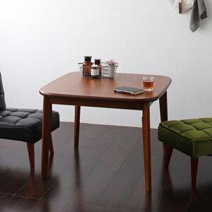 ダイニングテーブル 食卓 テーブル (幅90cm) 【 ウォールナット 茶色 木目 】【食卓 木製 おしゃれ かわいい 北欧 リビングテーブル 折りたたみ 伸縮 無垢 ウォールナット 正方形 丸 低め ガラ