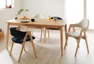 ダイニングテーブルセット 4人用 椅子 おしゃれ 安い 北欧 食卓 5点 ( 机+チェア4脚 ) ハイ・ローミックス 幅150 デザイナーズ クール スタイリッシュ ミッドセンチュリー 無垢 引き出し 収納