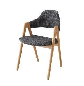 ダイニングチェア 2脚 椅子 おしゃれ 北欧 安い アンティーク 木製 シンプル ( 食卓椅子 ) 座面高45 ファブリック 完成品 背もたれ 肘付き シートクッション コンパクト 小さめ モダン スタイ