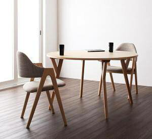 ダイニングテーブルセット 2人用 椅子 一人暮らし コンパクト 小さめ ワンルーム 丸テーブル 丸型 おしゃれ 安い 北欧 食卓 3点 ( 机+チェア2脚 ) 直径120 デザイナーズ クール スタイリッシュ