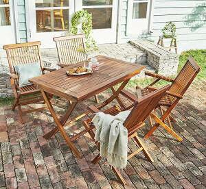 ガーデンテーブル + ガーデンチェア 椅子 セット 屋外 カフェ テラス ガーデン 庭 ベランダ バルコニー アジアン( 5点(テーブル+チェア4脚)チェア 肘掛け幅120 )