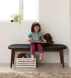 ダイニングベンチ 椅子 おしゃれ 木製 安い 2人掛け 長椅子 ダイニングチェア ベンチ ソファ ソファーベンチ ( 2P ) ウォールナット 座面高42 座面低め ロータイプ 無垢 ファブリック シートクッション 西海岸 ヴィンテージ インダストリアル レトロ サーフ ブルックリン