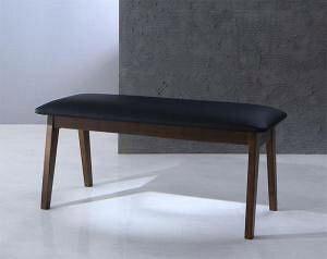 ベンチ ダイニングベンチ 椅子 おしゃれ 木製 安い 2人掛け 長椅子 ダイニングチェア ベンチ ソファ ソファベンチ ソファーベンチ レザー 革 合皮 ( 2P ) 座面高45 完成品 シートクッション 西