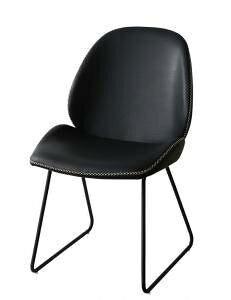 ダイニングチェア 椅子 おしゃれ 北欧 安い アンティーク 木製 シンプル ( 食卓椅子 1脚 ) 座面高44 無垢 レザー 合皮 背もたれ シートクッション アイアン モダン クール スタイリッシュ デザ