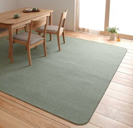 ラグ カーペット おしゃれ ラグマット 絨毯 撥水 北欧 安い 220×250 4畳 シルバーアッシュ ホットカーペット対応 床暖房対応防音 厚手 子供