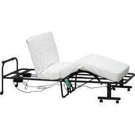 ベッド シングル リクライニングベッド 背もたれ リクライニングチェア 折りたたみベッド 簡易ベッド オフィス マットレス付き ベット 一人暮らし 折り畳み キャスター付き 軽量 パイプ ヘッドレス ノーヘッド キャスター 脚付き 足付 ルンバ 介護 病人