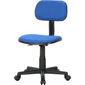 キャスター付き椅子 キャスター オフィスチェア 事務椅子 デスクチェア 椅子 チェア ブルー 青 肘なし おしゃれ 安い パソコンチェア