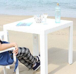 ガーデンテーブル テーブル カフェテーブル アウトドアテーブル BBQテーブル ガーデンファニチャー ガーデン ガーデン家具 バーベキュー キャンプ アウトドア 釣り ホワイト 白