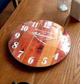 ブラウン 茶色 時計 壁掛け 壁掛け時計 掛け時計 壁時計 ウォールクロック 掛時計 インテリア時計 デザイン時計 クロック 西海岸 ヴィンテージ ビンテージ アメリカン バスロールサイン