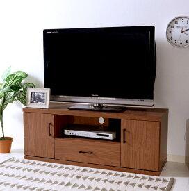 テレビ台 おしゃれ 安い 北欧 ローボード テレビボード 収納 120 薄型 扉付き 幅120 ブラウン 茶色 TVボード TV台 テレビラック TVラック