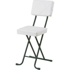 パイプ椅子 折りたたみ椅子 折り畳み椅子 イス 椅子 チェア おしゃれ 安い 軽量 コンパクト フォールディング ホワイト 白 背もたれ 背もたれ付き