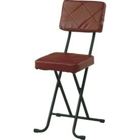 パイプ椅子 折りたたみ椅子 折り畳み椅子 イス 椅子 チェア おしゃれ 安い 軽量 コンパクト フォールディング ブラウン 背もたれ 背もたれ付き