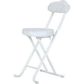 パイプ椅子 折りたたみ椅子 折り畳み椅子 イス 椅子 チェア おしゃれ 安い コンパクト ホワイト 白 会議イス 背もたれ 背もたれ付き 会議 格安