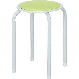 グリーン 緑 丸椅子 パイプチェア スタッキングチェアー 椅子 イス いす チェアー 積み重ね 重ね置き スタッキング スツール ミーティングチェア 会議チェアー 会議用イス スタッキング 重ね置き