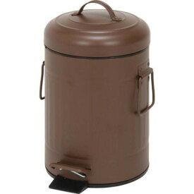 ゴミ箱 ごみ箱 ダストボックス キッチン リビング おしゃれ カフェ ブラウン 茶色 3リットル 3l ふた付き 蓋付きゴミ箱 蓋 つき 蓋付き ペダル オフィス トイレ