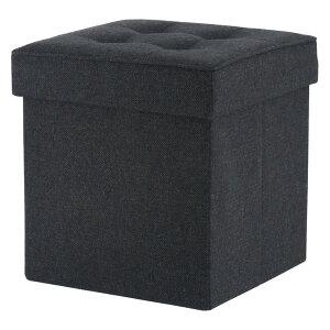 収納 椅子 収納ボックス チェア イス オットマン スツール 玄関 腰掛け ベンチ おしゃれ 北欧 a4 おもちゃ かわいい ふた付き 安い 蓋付き 子供 小物 大型 大容量 服 本 ブラック 幅38 奥行38 高