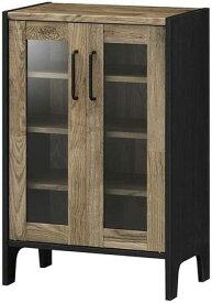 食器棚 おしゃれ 北欧 安い キッチン 収納 棚 ラック 木製 レンジ台 ロータイプ コンパクト ミニ 調味料 小型 小さいサイズ 一人暮らし 大容量 約 幅60 スリム 薄型 ヴィンテージ カウンター レトロ 作業台