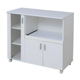 レンジ台 食器棚 おしゃれ 北欧 安い キッチン 収納 棚 ラック 木製 ロータイプ 約 幅90 白 カウンター ワイド スライド 炊飯器置き場 大容量 キャスター ワゴン 調味料 レンジボード コンセント