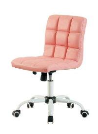 オフィスチェア 事務椅子 キャスター付き椅子 キャスター 椅子 チェア ピンク デスクチェア 肘なし おしゃれ 安い パソコンチェア
