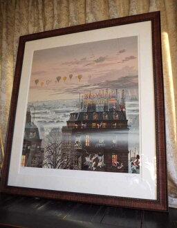 繪畫 Hiro 山形 / 日落車道列印絲印保修全國是可用