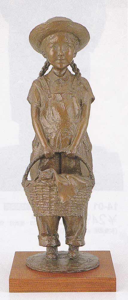 大道寺光弘 洋風 光と風と友達と 床の間 置物 銅像 全国送料無料 【smtb-k】【ky】