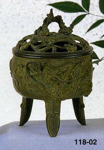 送料無料 香炉 龍文 名取川 雅司 床の間 置物 仏具 銅 ブロンズ