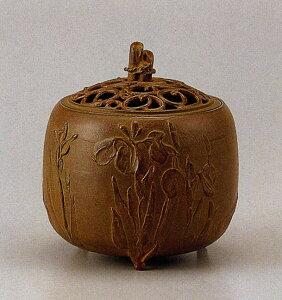 送料無料 香炉 杜若文 名取川 雅司 床の間 置物 仏具 銅 ブロンズ