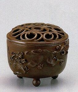 送料無料 香炉 獅子文 名取川 雅司 床の間 置物 仏具 銅 ブロンズ