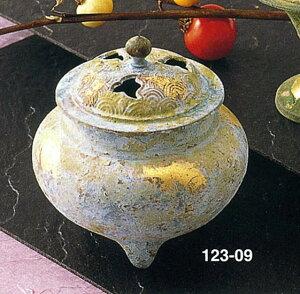 送料無料 香炉 波千鳥 床の間 置物 仏具 銅 ブロンズ