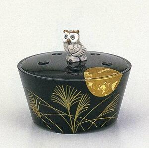 送料無料 香炉 蒔絵 月夜 床の間 置物 仏具 銅 ブロンズ