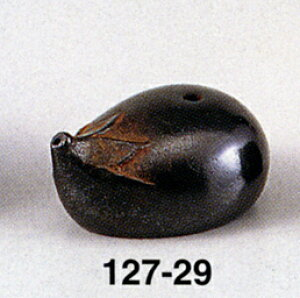 水滴 ナス 床の間 置物 仏具 銅 ブロンズ 香炉 香合