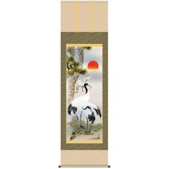 Hanging Chiku crane Seta Gong boat hanging scroll / national