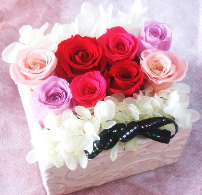 あす楽 母の日 花 ギフト 誕生日プレゼント 女性 花 プリザーブドフラワー 送別 退職祝い【プリザーブドフラワー 誕生日】結婚祝い プレゼント プリザーブドフラワー 誕生日 送別 退職祝い お見舞い 記念 結婚記念 赤バラ ブリザーブド プリザ フラワーギフト