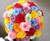 告别退休庆祝婚礼,保留的花束礼品花中学时代花束 7 色彩虹礼品妇女阵亡将士纪念日礼物暴雪花 / 10P01Oct16