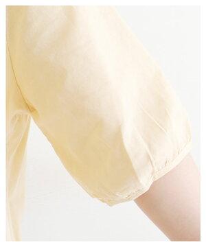シンプル刺繍五分袖トップス【7月5日22時販売新作】