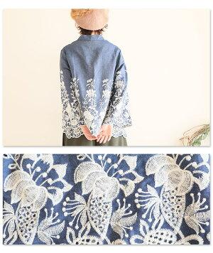 花刺繍のフレア袖が愛らしいふんわりトップス【1月7日8時販売新作】