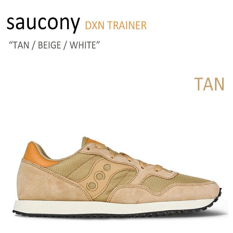 サッカニー スニーカー Saucony メンズ DXN TRAINER ディクソン トレイナー TAN BEIGE WHITE タン ベージュ ホワイト S70124-51 シューズ