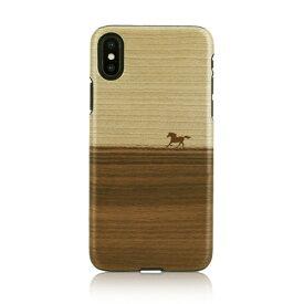 iPhone XS Max ケース 天然木 Man&Wood Mustang(マンアンドウッド マスタング)アイフォン カバー 木製 お取り寄せ
