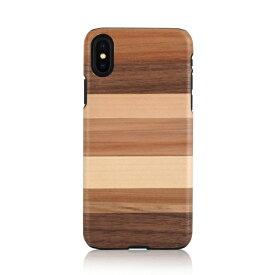 iPhone XS Max ケース 天然木 Man&Wood Sabbia(マンアンドウッド サッビア)アイフォン カバー 木製 お取り寄せ