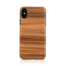 iPhone XS Max ケース天然木 Man&Wood Cappuccino(マンアンドウッド カプチーノ)アイフォン カバー 木製 お取り寄せ