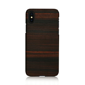 iPhone XS Max ケース 天然木 Man&Wood Ebony (マンアンドウッド エボニー)アイフォン カバー 木製 お取り寄せ