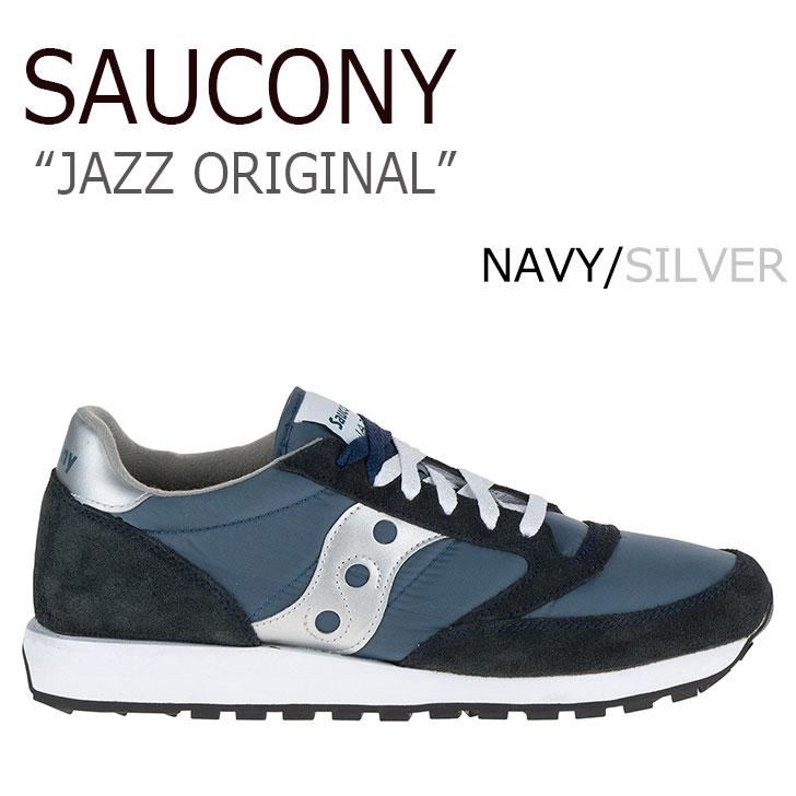 送料無料 サッカニー スニーカー Saucony メンズ レディース JAZZ ORIGINAL ジャズ オリジナル NAVY ネイビー 2044-2 シューズ
