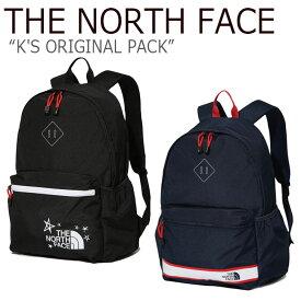 ノースフェイス バックパック THE NORTH FACE キッズ K'S ORIGINAL PACK オリジナル パック BLACK NAVY ブラック ネイビー NM2DK08S/R バッグ 【中古】未使用品