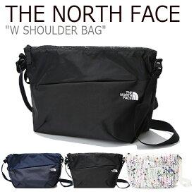 ノースフェイス クロスバッグ THE NORTH FACE メンズ レディース W SHOULDER BAG ショルダーバッグ IVORY NAVY BLACK アイボリー ネイビー ブラック NN2PK08A/B/C バッグ 【中古】未使用品