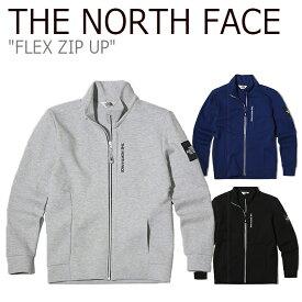 ノースフェイス ジャケット THE NORTH FACE メンズ レディース FLEX ZIP UP フレックス ジップアップ スクエアロゴ ボックスロゴ GRAY BLUE BLACK グレー ブルー ブラック NJ5JK05J/K/L ウェア 【中古】未使用品