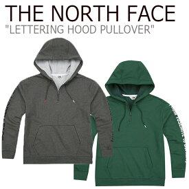 ノースフェイス パーカ THE NORTH FACE メンズ レディース LETTERING HOOD PULLOVER レターリング フードプルオーバー グレー グリーン NM5PJ02J/K ウェア 【中古】未使用品